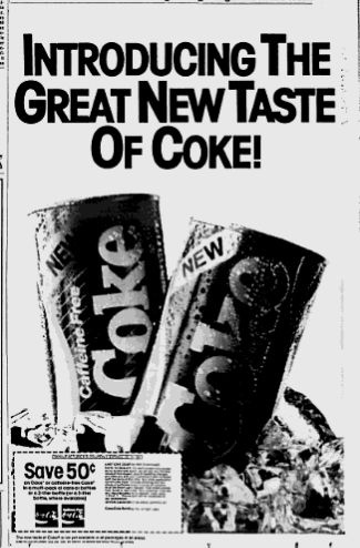 introducing to new coke 5 products that failed and why new coke was launched in the mid-1980s by coca cola in an attempt to help the soda company stay ahead of competitors.
